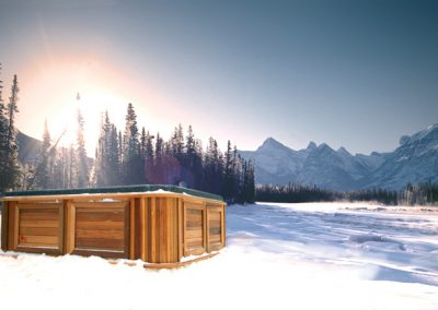arctic spas hot tub in the mountains 1